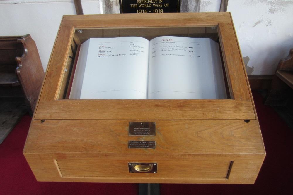 Herdenkingsboek St Thomas & St Edmund's Salisbury
