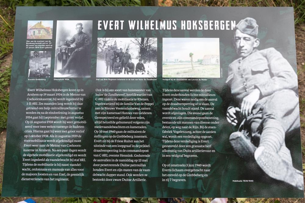 Information Sign Evert Wilhelmus Hoksbergen