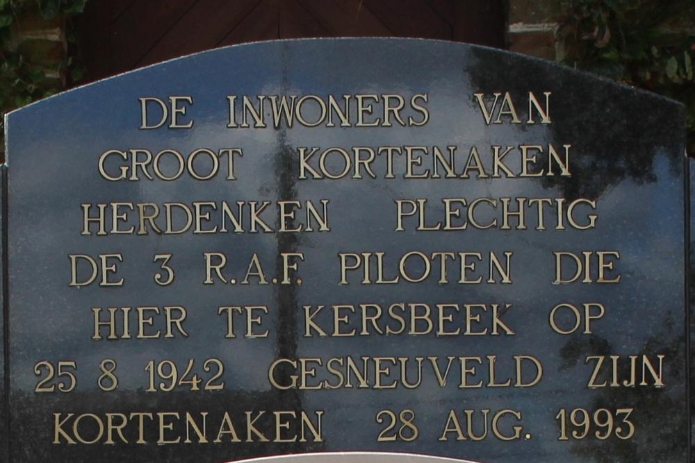 Monument RAF Piloten Kerkhof Kersbeek-Miskom