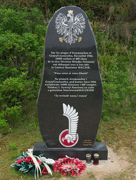 Monument 1st Armoured Polish Division