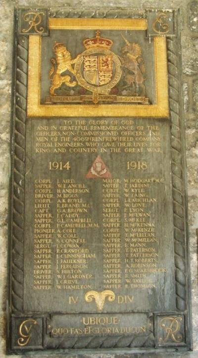 Plaques Paisley Abbey