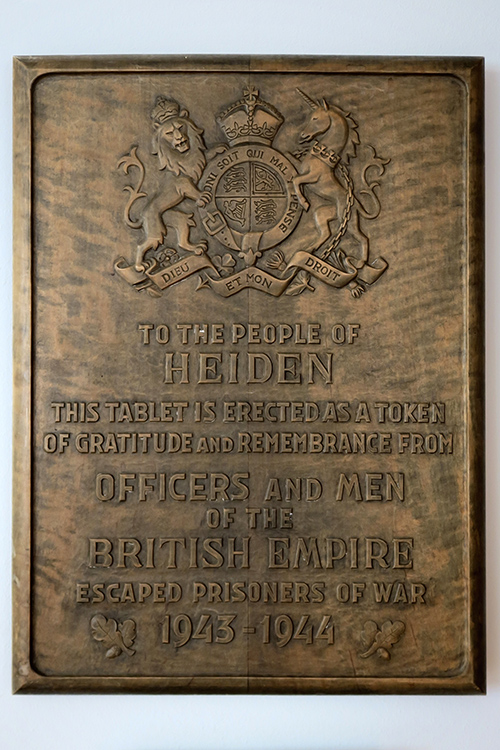 Plaque Escaped Allied Prisoners of War