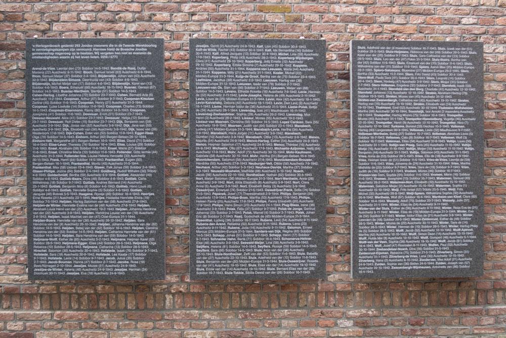 Plaques Names Jewish Victims Den Bosch