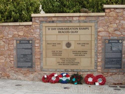 Memorial Embarkation Ramps D-Day Beacon Quay
