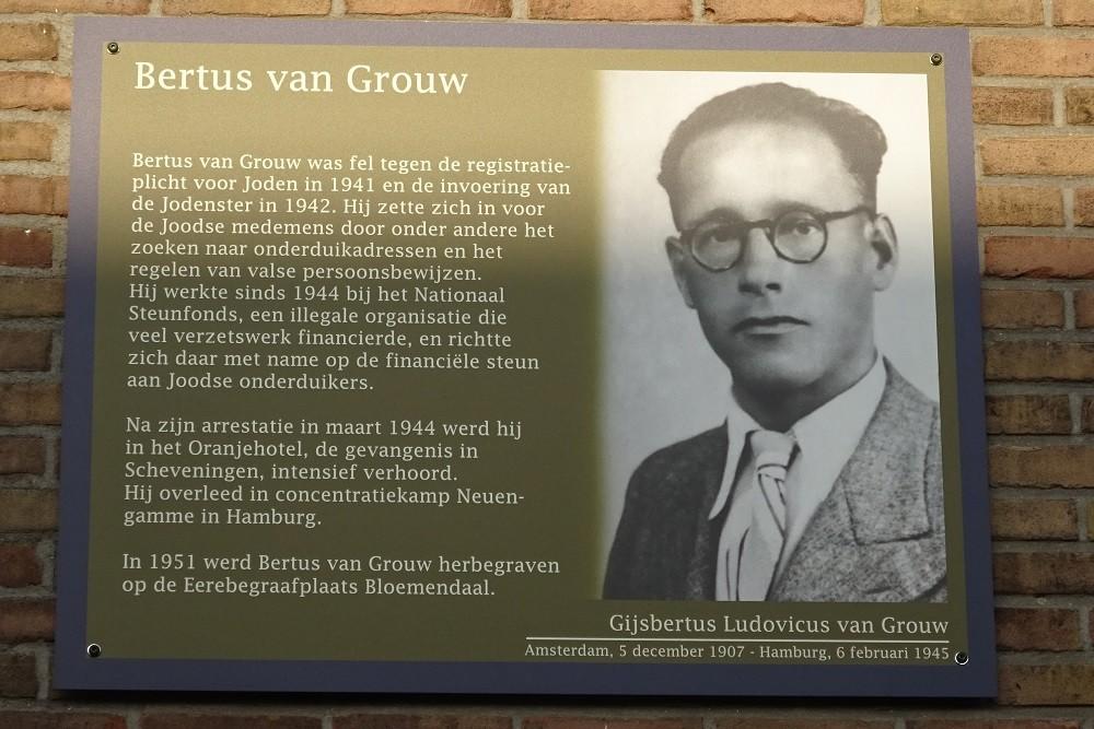 Memorial Plates Slotermeer Bertus van Grouwstraat