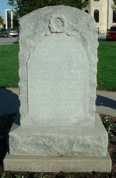 Oorlogsmonument McPherson County