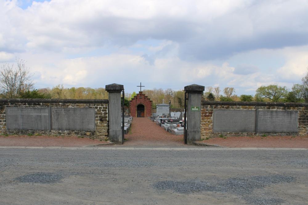 Gedenkplaten Begraafplaats Grandglise