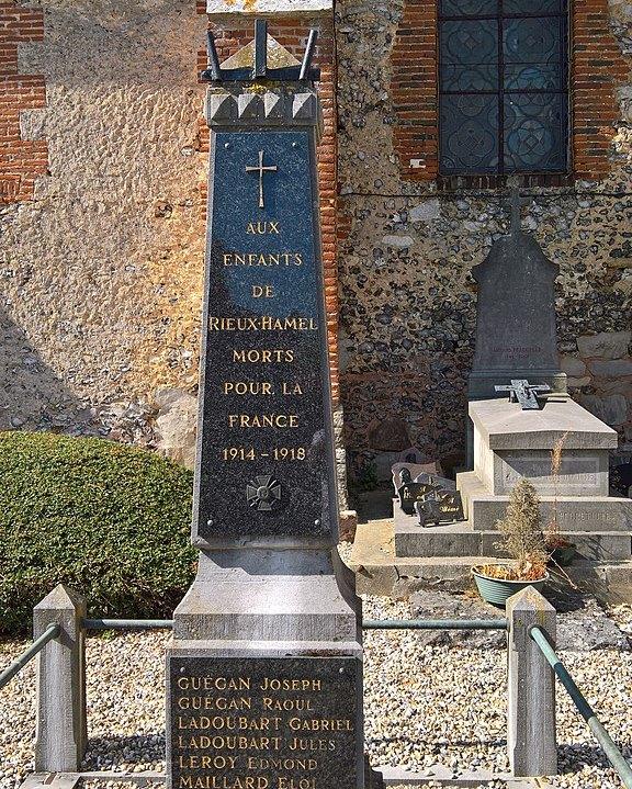 World War I Memorial Le Hamel