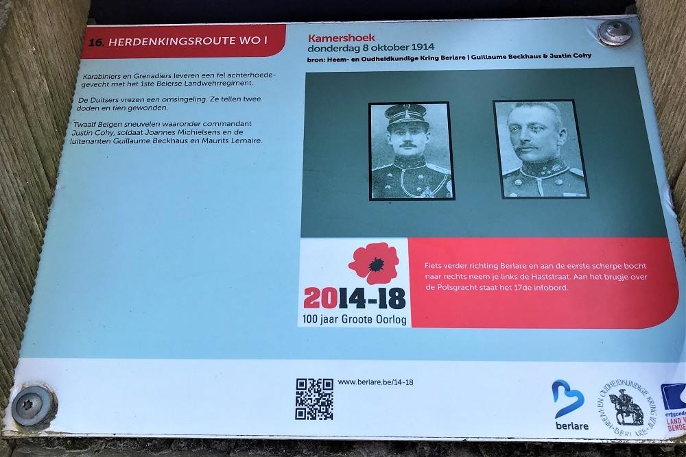 Herdenkingsroute 100 jaar Groote Oorlog - Informatiebord 16