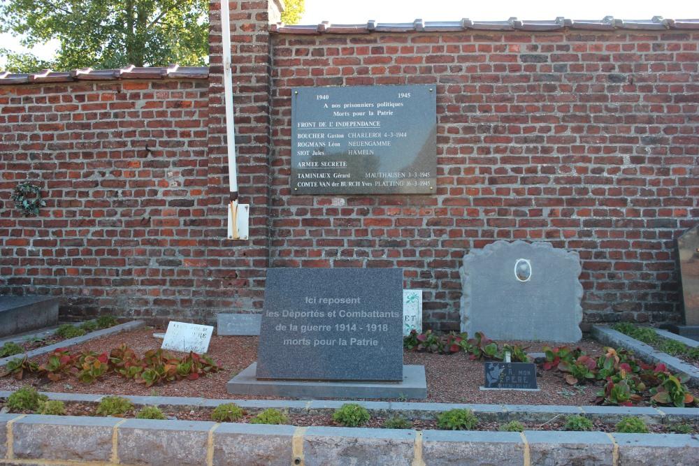 Commemorative Plaques War Victims Ecaussinnes-Lalaing
