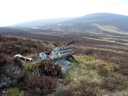 Crash Site 7 Wreck Miles Magister Trainer Aircraft Cairn of Finglenney