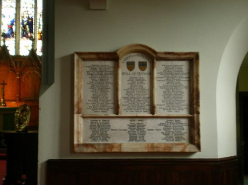 War Memorial St. John the Baptist Church Burscough