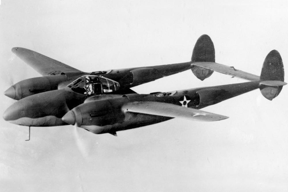 Crashlocatie P-38F-5-LO Lightning # 42-12647
