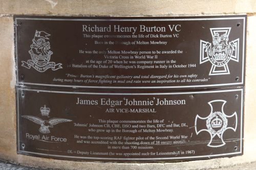 Plaques Richard Henry Burton VC and 'Johnnie' Johnson