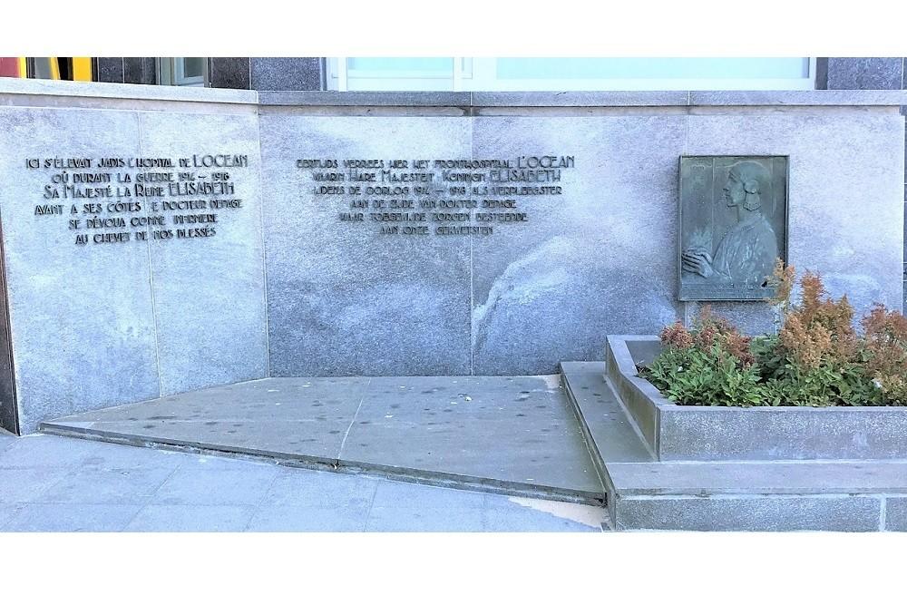 Memorial Stone Queen Elisabeth - Hospital