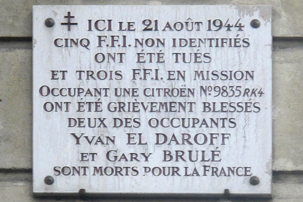 Plaques Victims Liberation of Paris