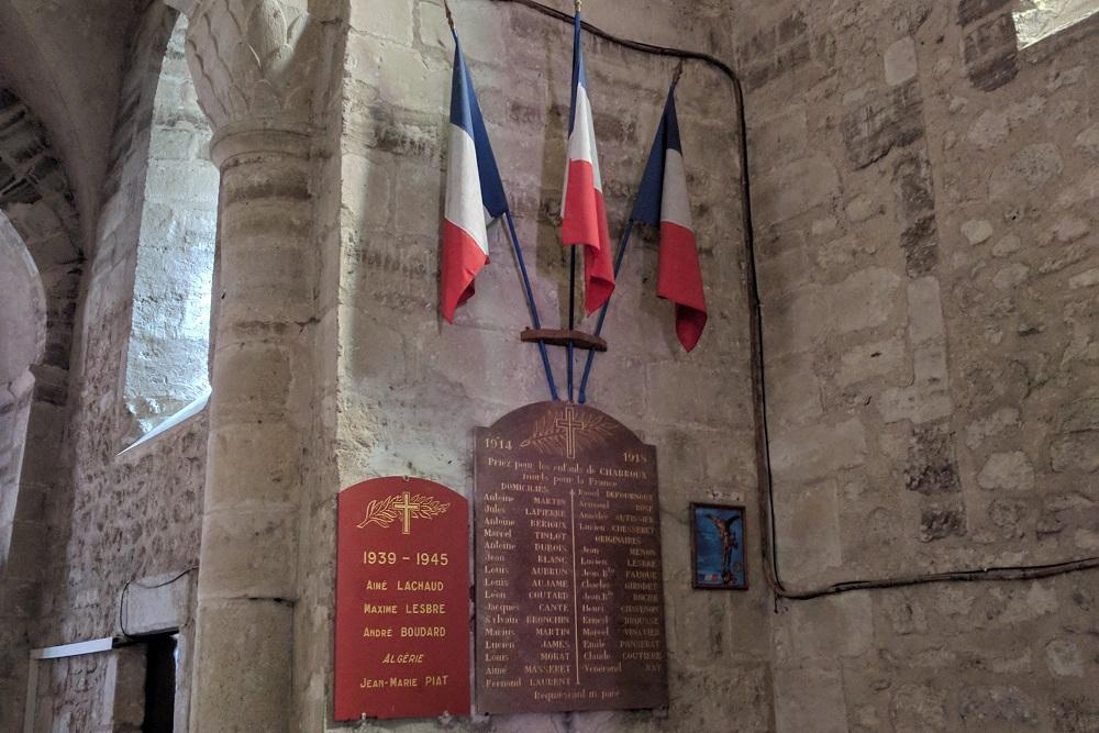 War Memorial Charroux Church