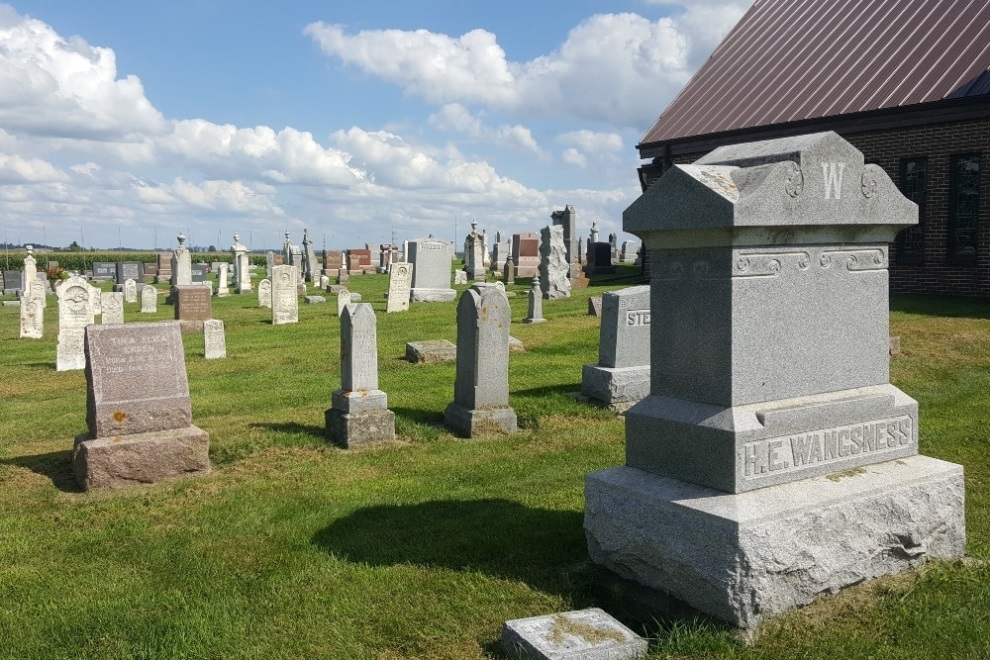 Amerikaans Oorlogsgraf Calmar Lutheran Church Cemetery