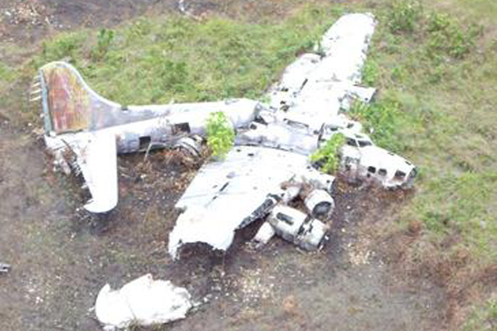 Crash Site & Remains B-17E Flying Fortress 41-9234
