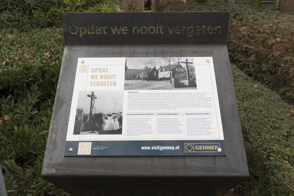 Information Sign Civilian Casualties Milsbeek