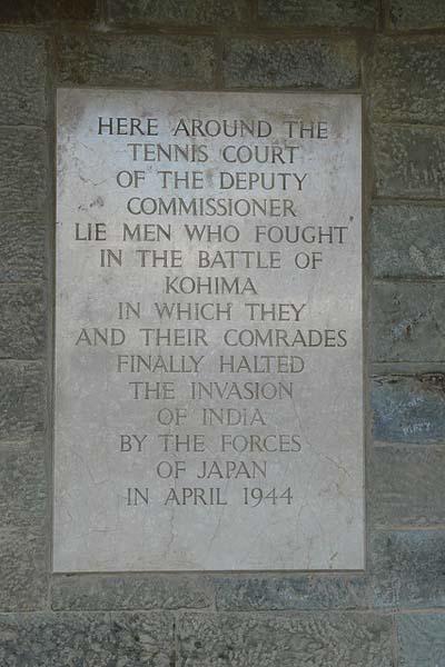 Dankbaarheidsplaquette Kohima War Cemetery