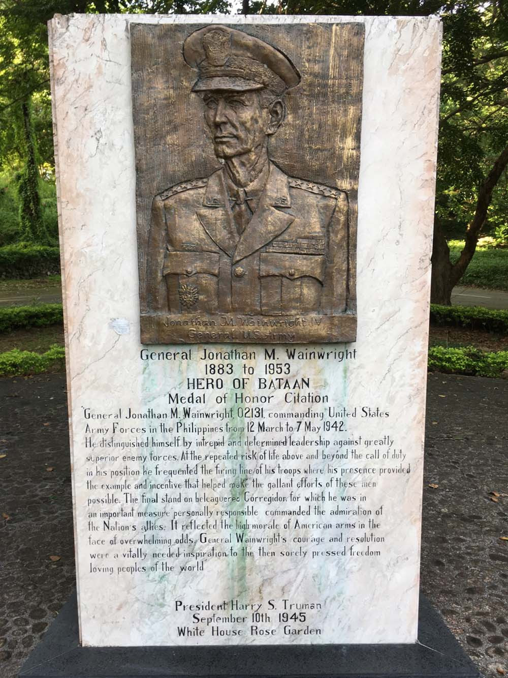 General Jonathan Wainwright Memorial