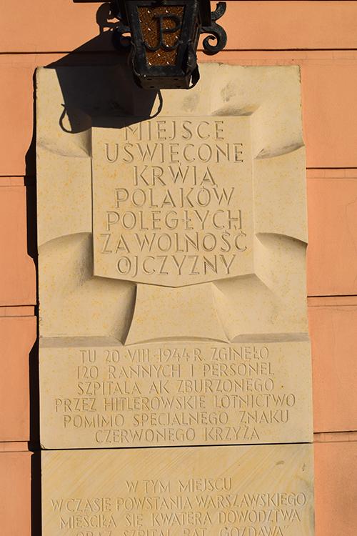 Plaquette Slachtoffers Bombardement 20 Augustus 1944