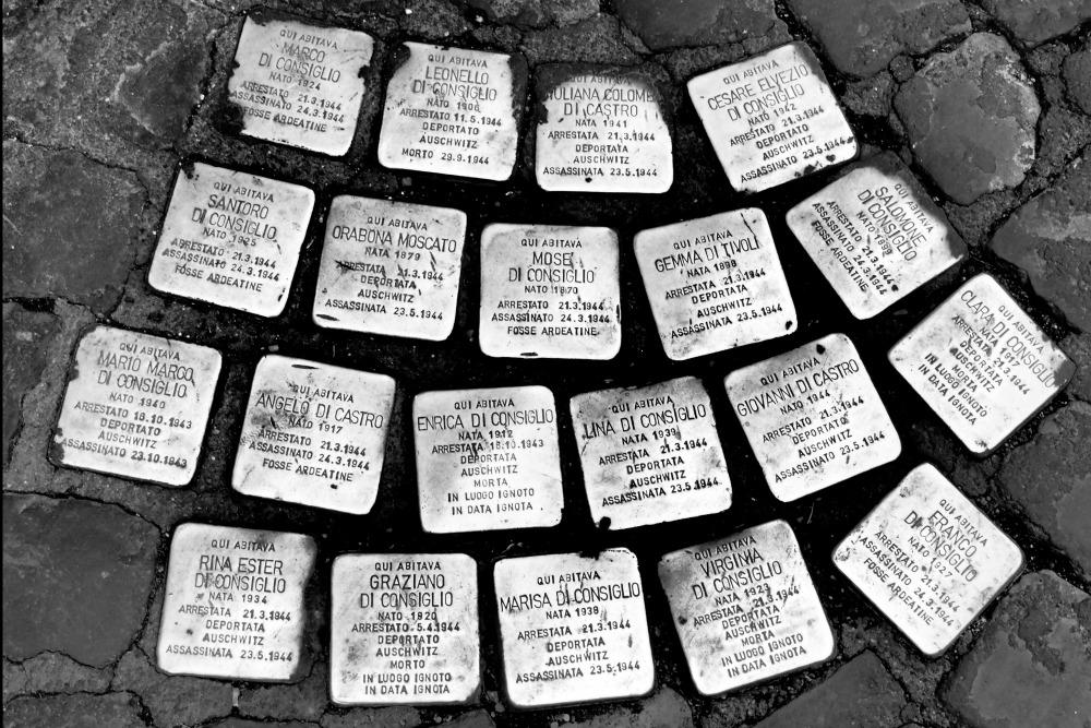 Stumbling Stones Via della Madonna dei Monti 82