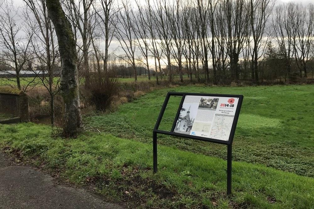 Cycle Route Battle of the Ringbeek, Information Board Castle of Hertsberge