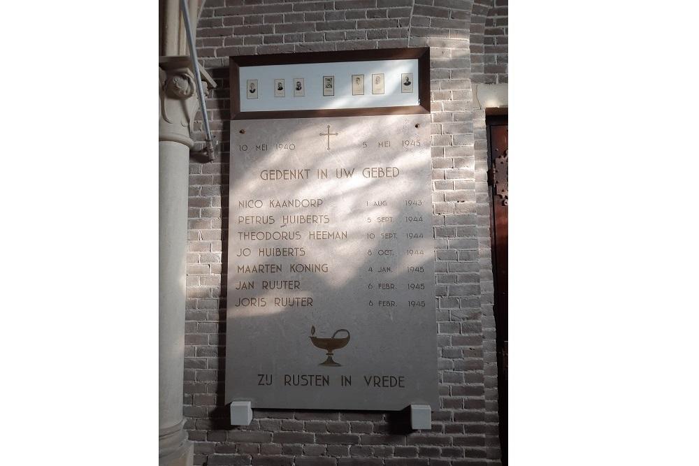 Oorlogsmonument Rooms Katholieke Kerk Westbeemster