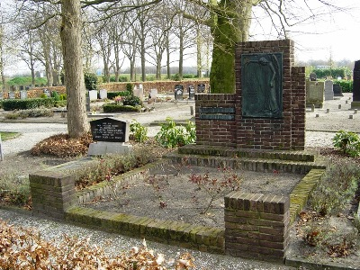 Dutch War Grave Resistance Fighter Jan de Rooy General Cemetery Sprang-Capelle