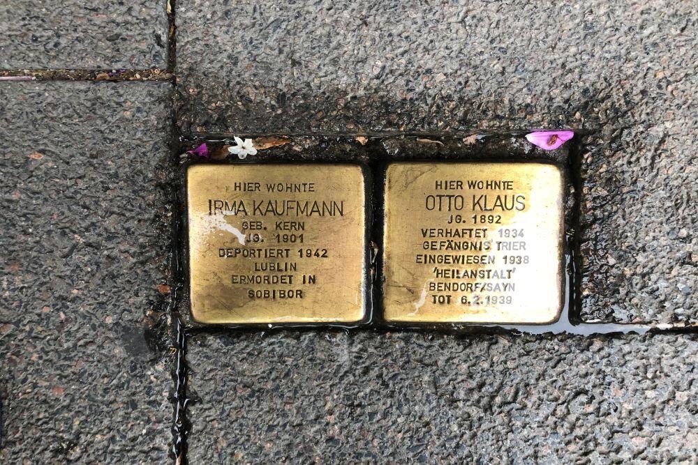 Stumbling Stones Niederwaldstraße 3