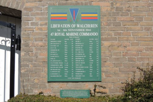 47th Royal Marines Commando Plaque Dishoek