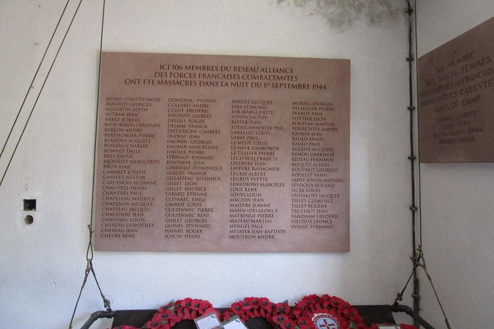 Plaquettes Crematorium Natzweiler-Struthof