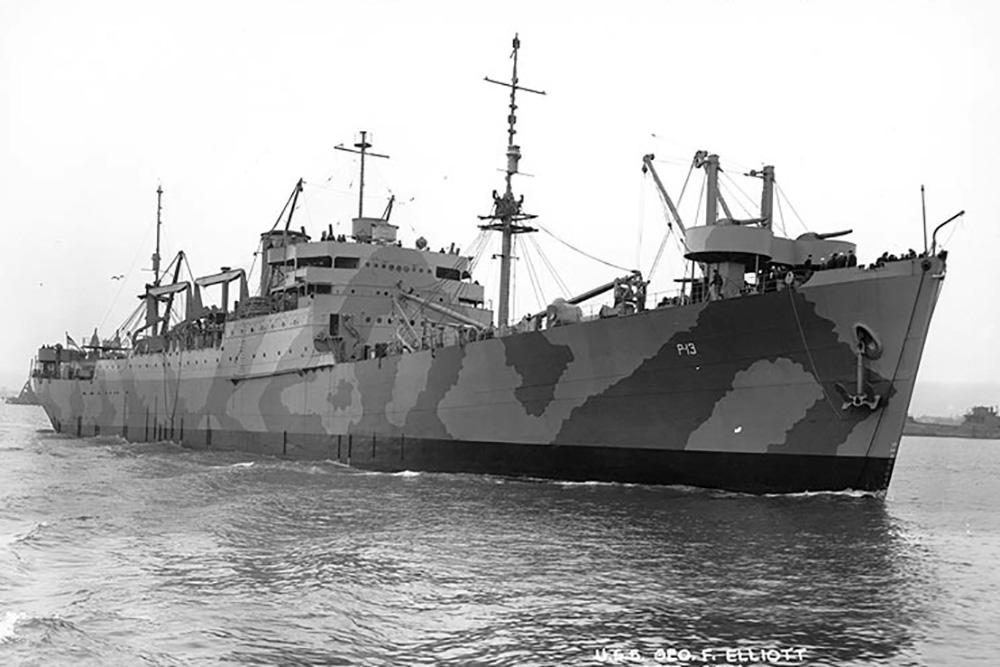 Scheepswrak USS George F. Elliott (AP-13)