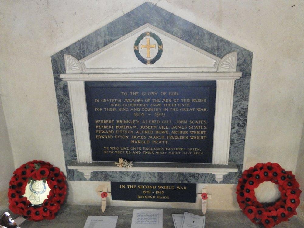 War Memorial All Saints Church