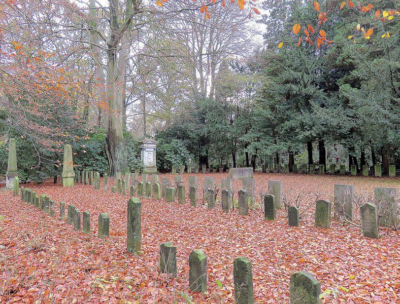 Graven Vrijheidsstrijders Joodse Begraafplaats Friedhof Ohlsdorf Hamburg