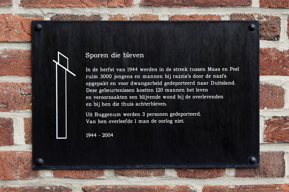 Monument 'Sporen die Bleven' Buggenum