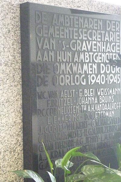 Plaquettes Stadhuis Den Haag