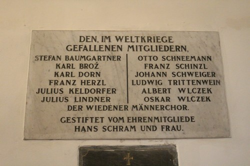War Memorial Wiedener Männerchors