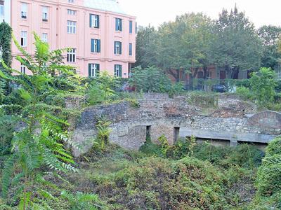 Ruins National Library Belgrade