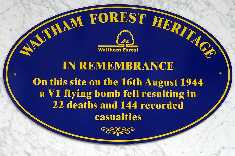 Plaque Victims V1 Flying Bomb