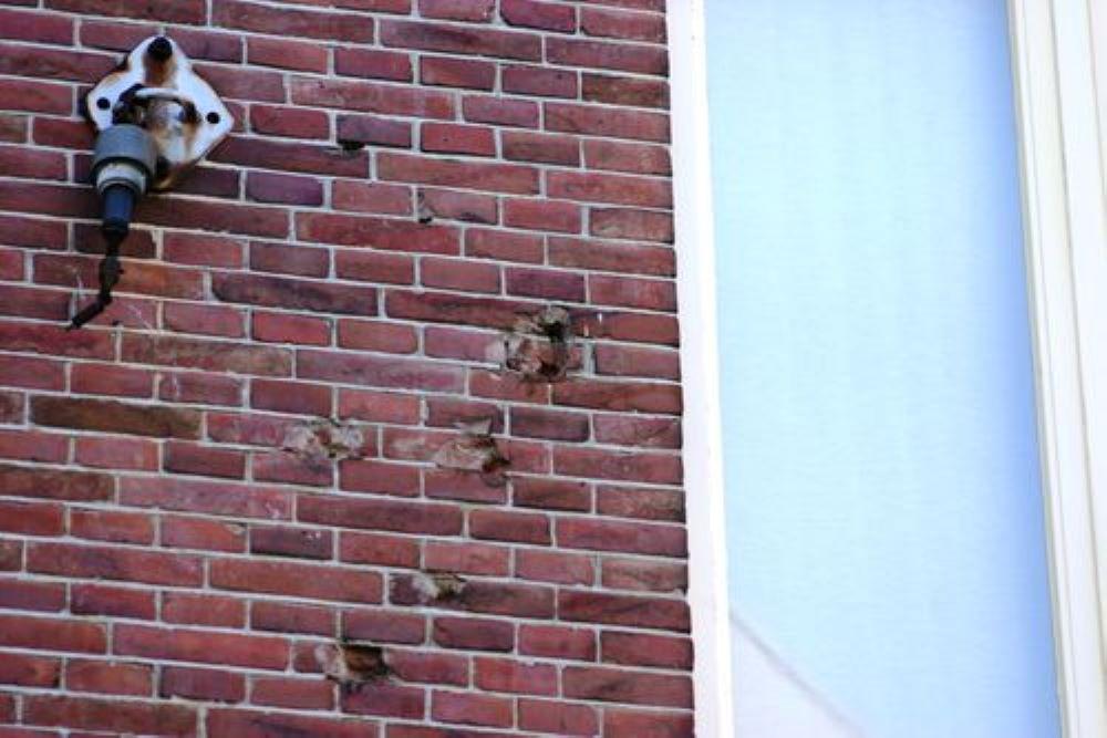 Bullet Impacts Hofstraat 1