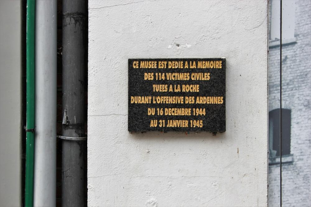 Commemorative plaque Civilian Casualties La-Roche-en-Ardenne