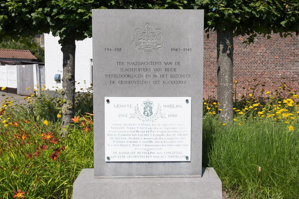 Oorlogsmonument Koolkerke