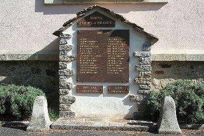 Oorlogsmonument Castanet-le-Haut