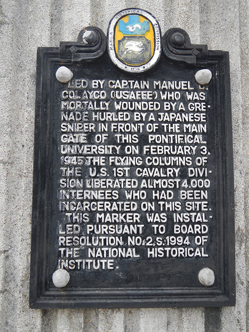 Plaque Captain Manuel Colayco