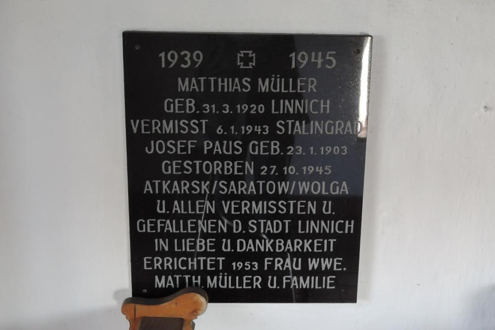 Plaque Chapel Linnich