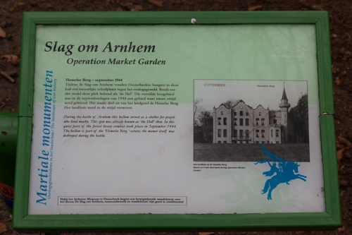 Information panel Battle of Arnhem - Hemelse Berg