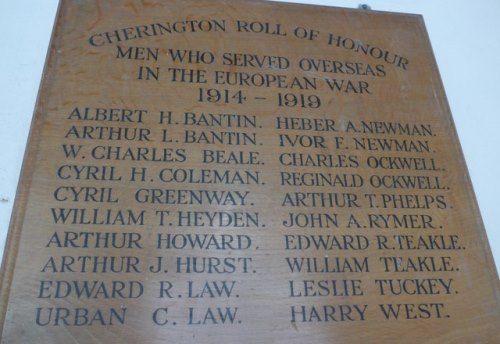 Oorlogsmonument St. Nicholas Church Cherington